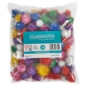 Classmates Glitter Pom Poms Pack of 100