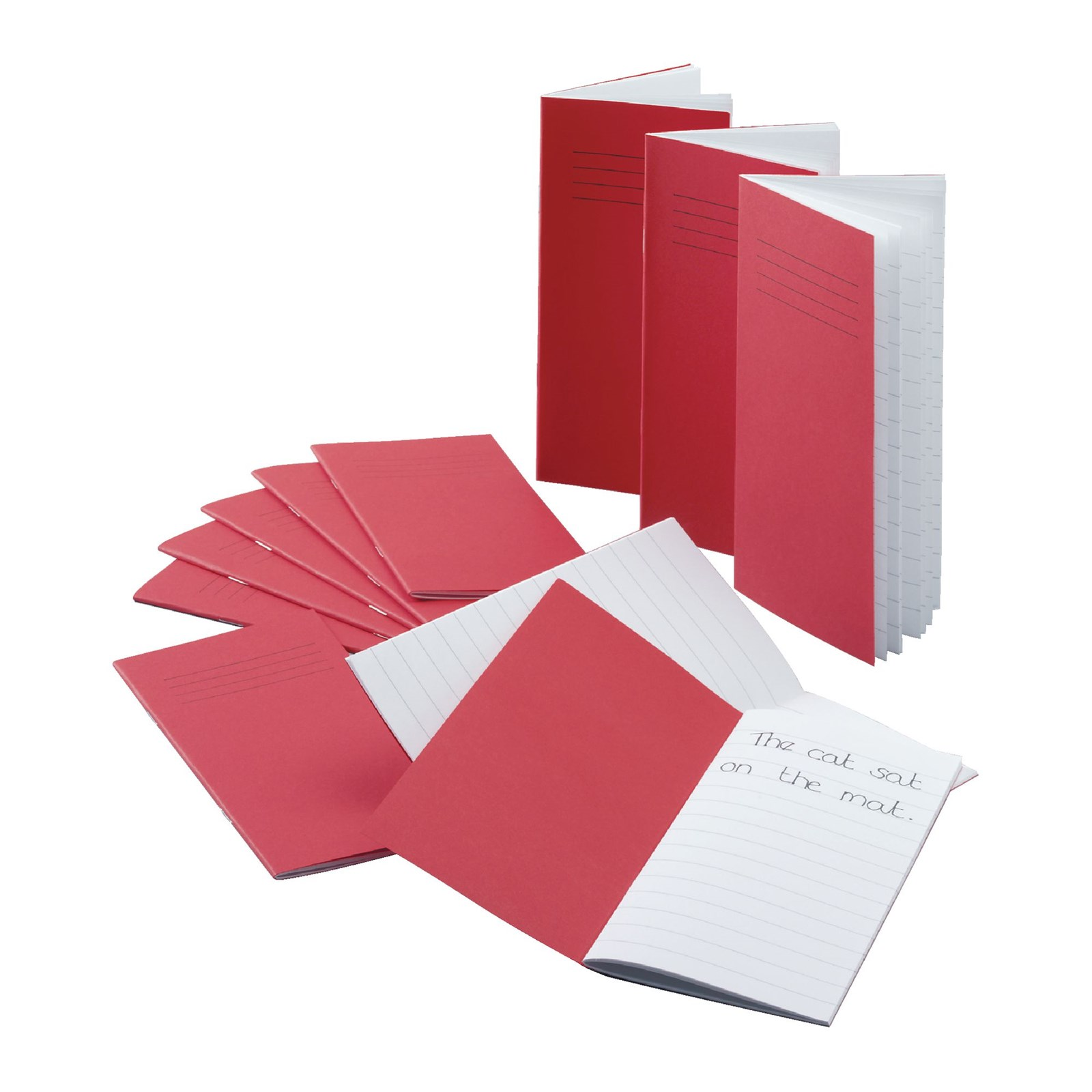 Classmates Red 200 x 100mm Notebook 32-Page, 12mm Ruled - Pack of 100