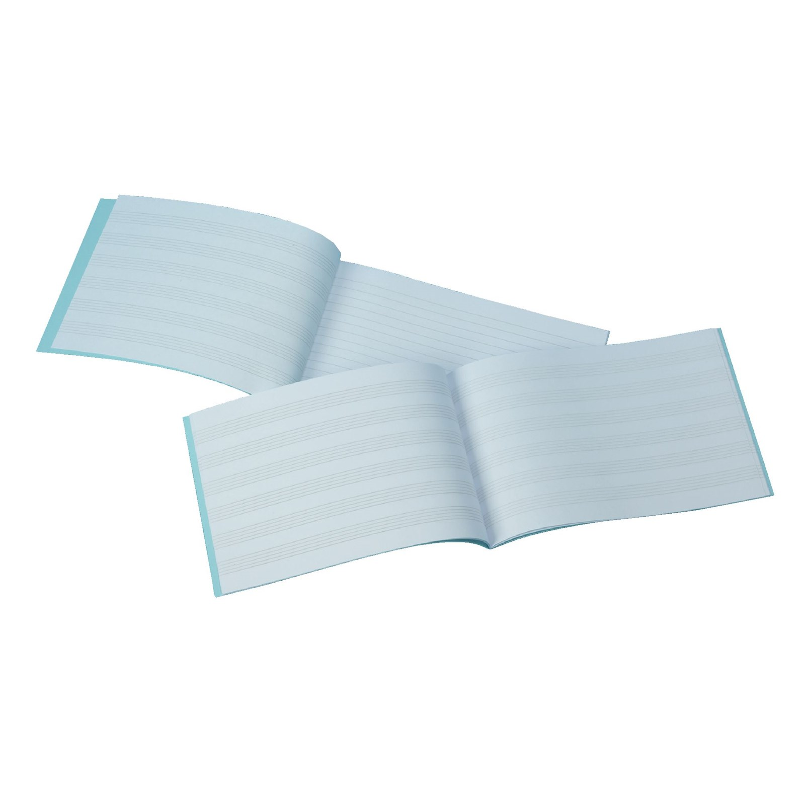 Light Blue 140 x 241mm Music Manuscript Book 32-Page, 6mm Stave - Pack of 50