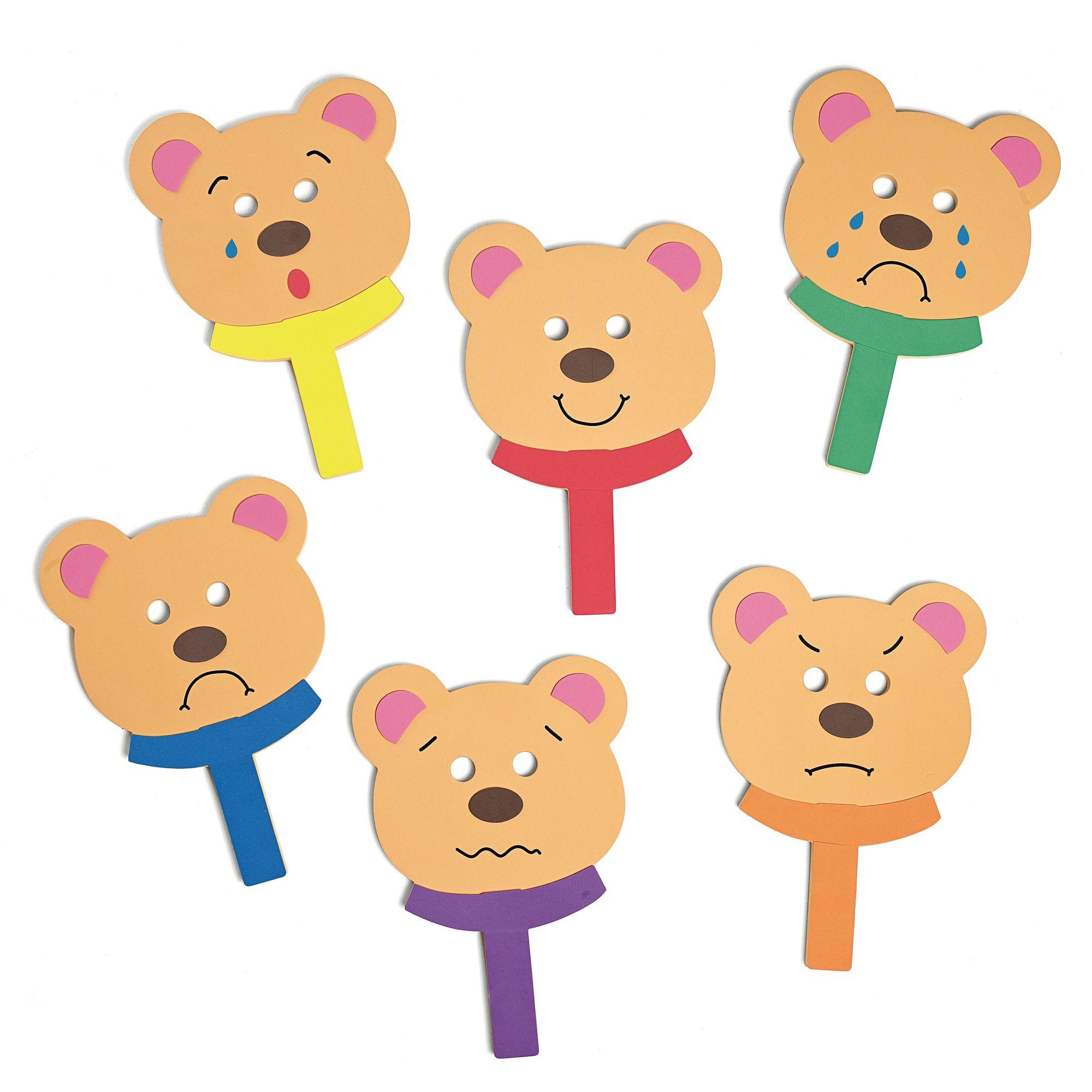 Feely Face Bears Mask Set