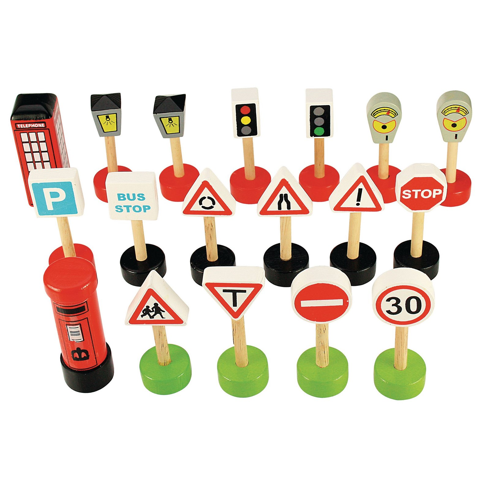 Road Signs - Pack of 18