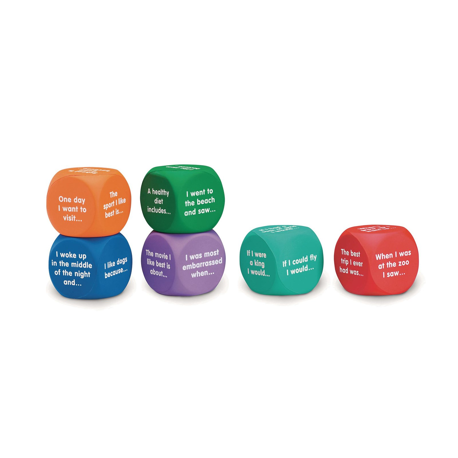 Writing Prompt Cubes Pack of 6