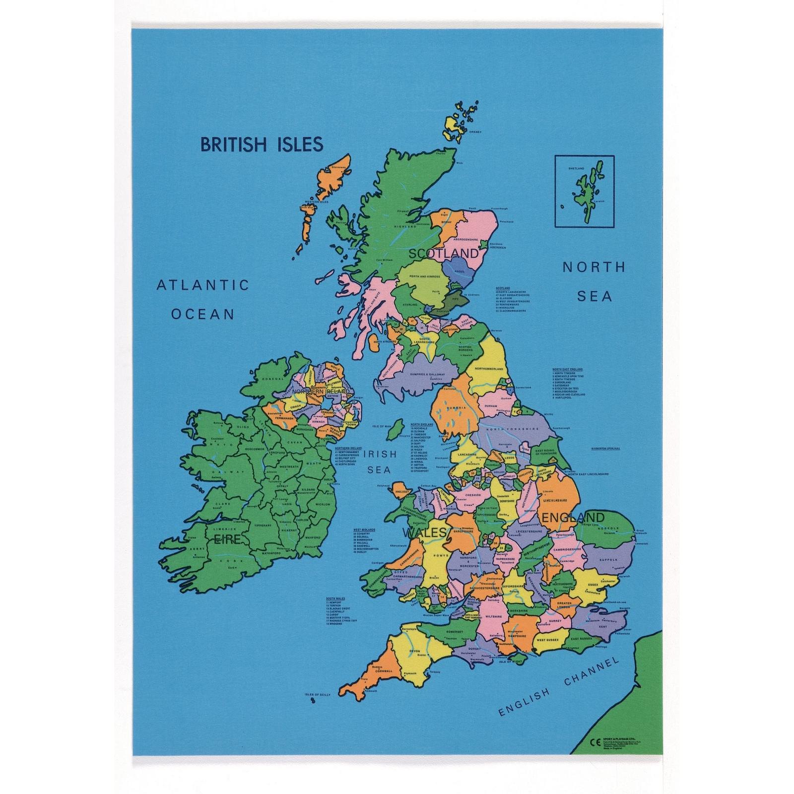 British Isles Map Mat | GLS Educational Supplies