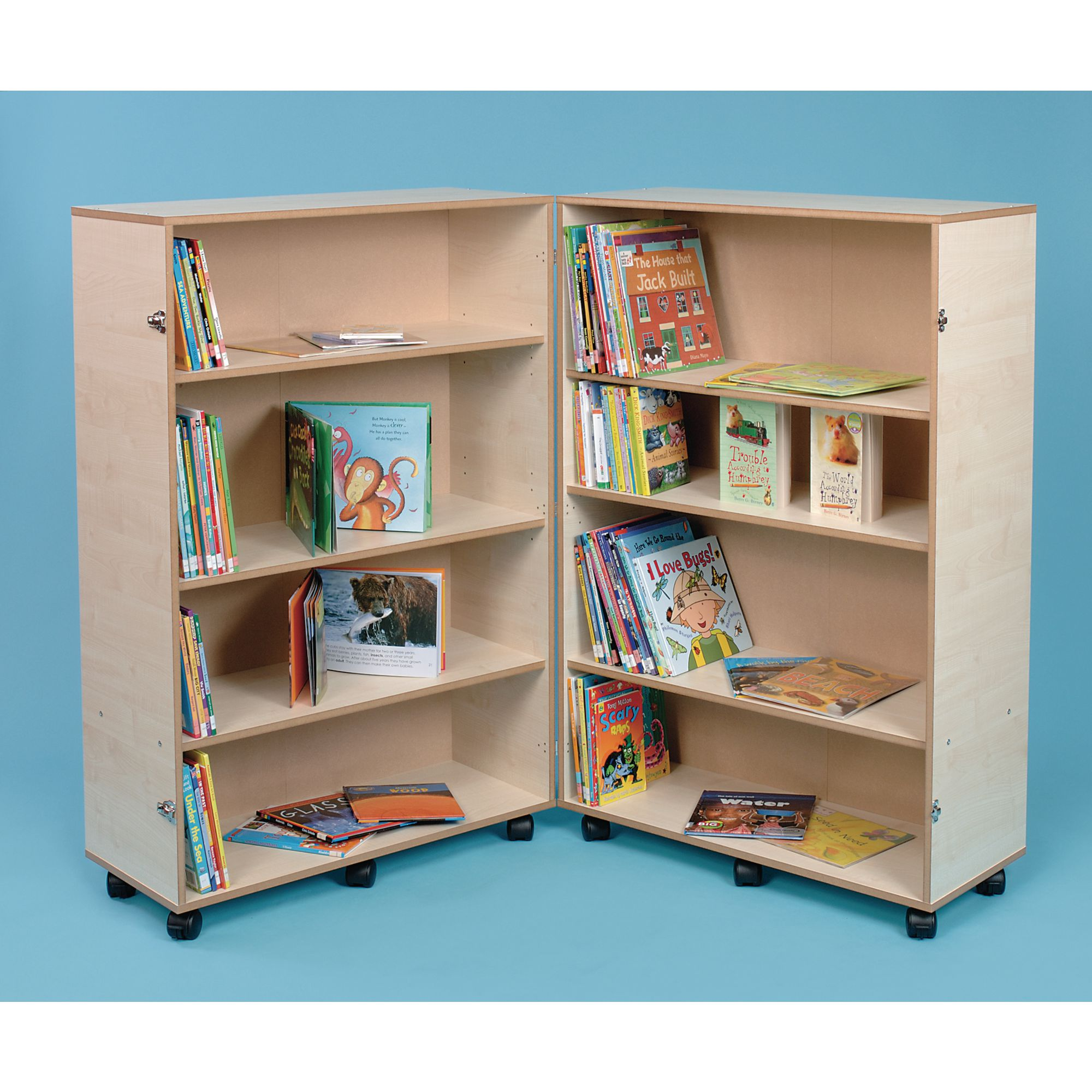 Hinged And Adjustable Bookcase 800 X 640 X 1260mm