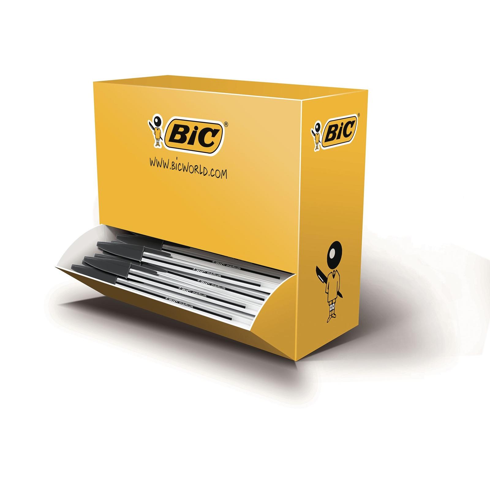 Bic Cristal Ballpoint Pen Black - Pack of 90 + 10 Free