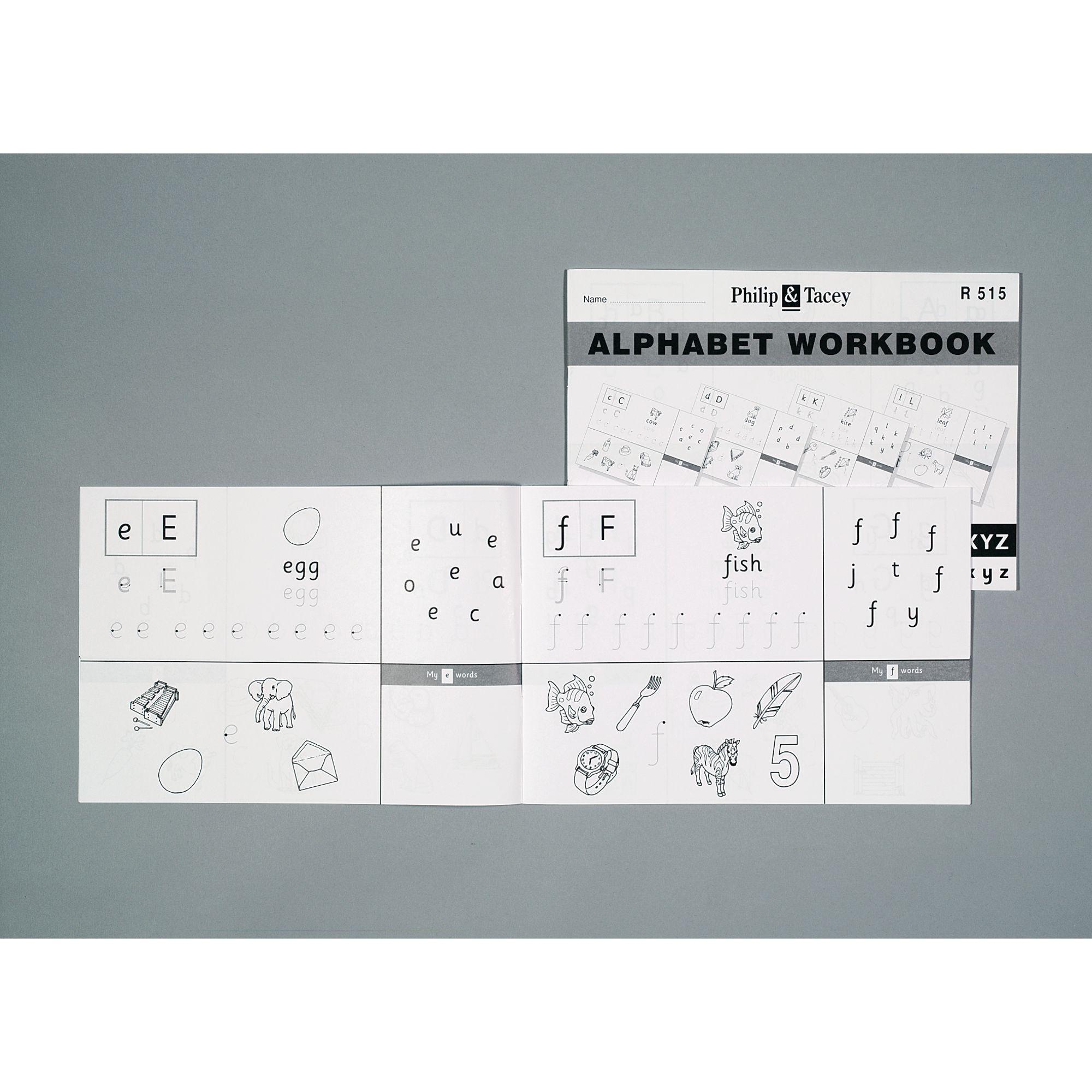 Alphabet Workbook Pk10
