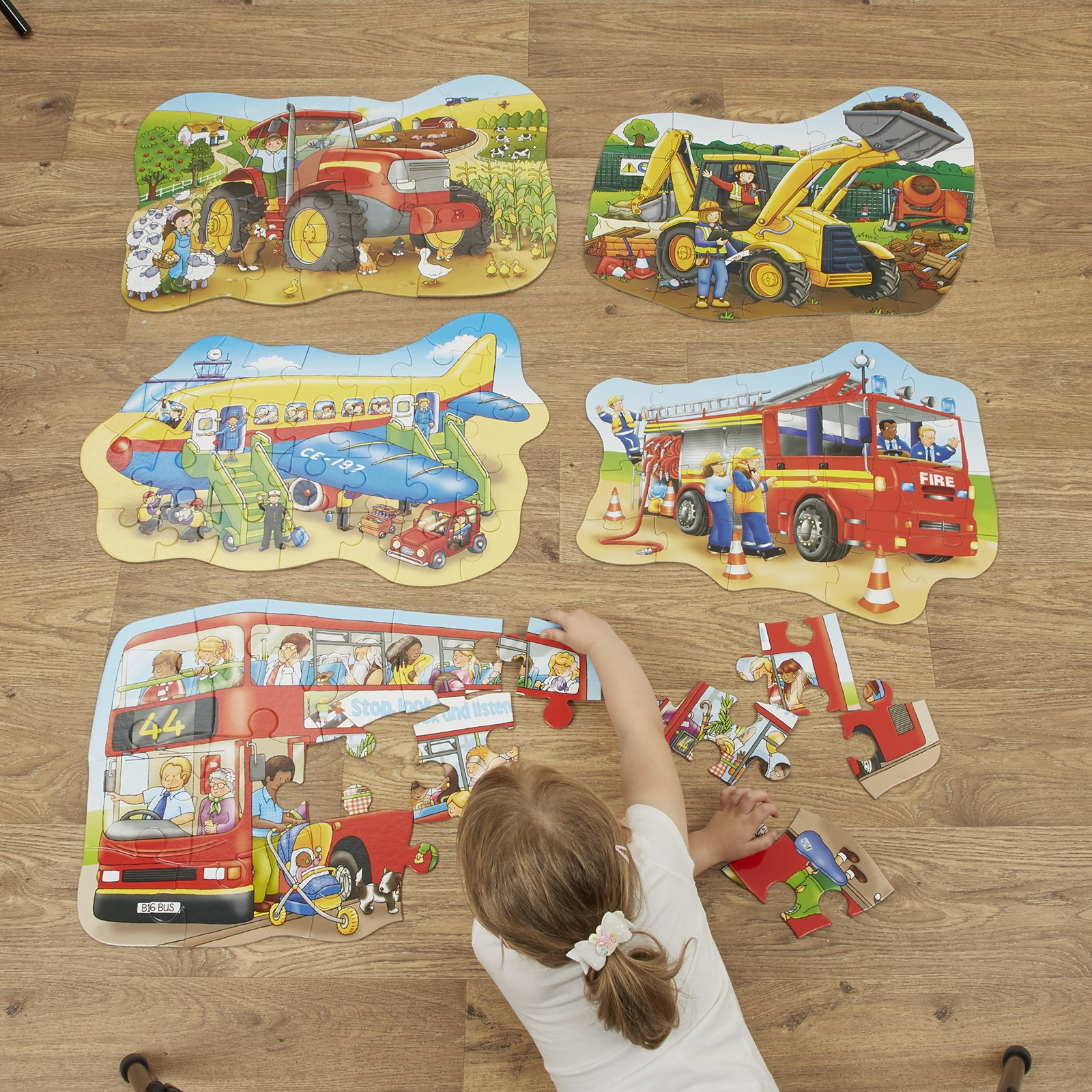 Transport Floor Jigsaw Puzzles - Pack of 5