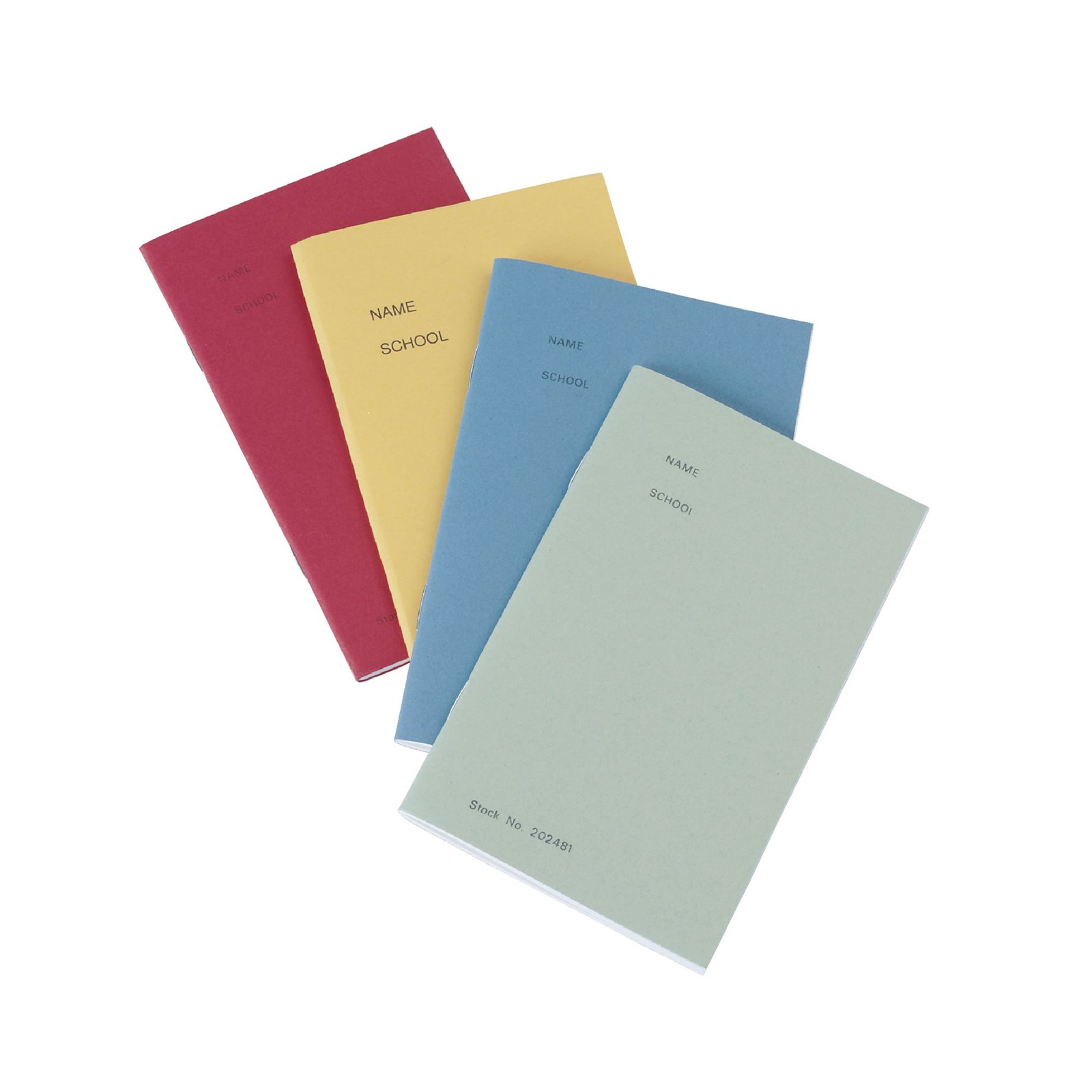 Light Green 165 x 102mm Notebook 48-Page, 8mm Ruled - Pack of 100
