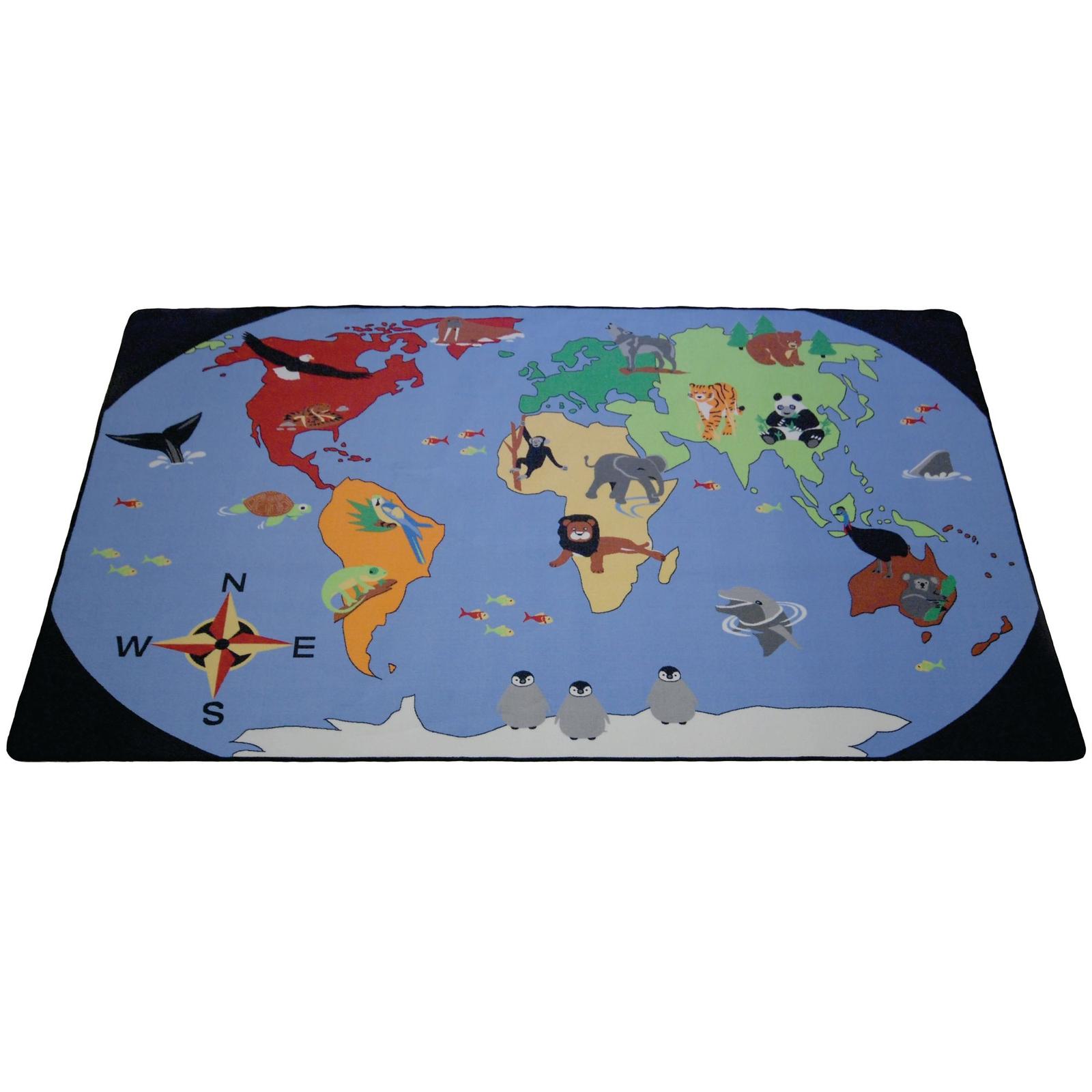World Map Carpet Hope Education