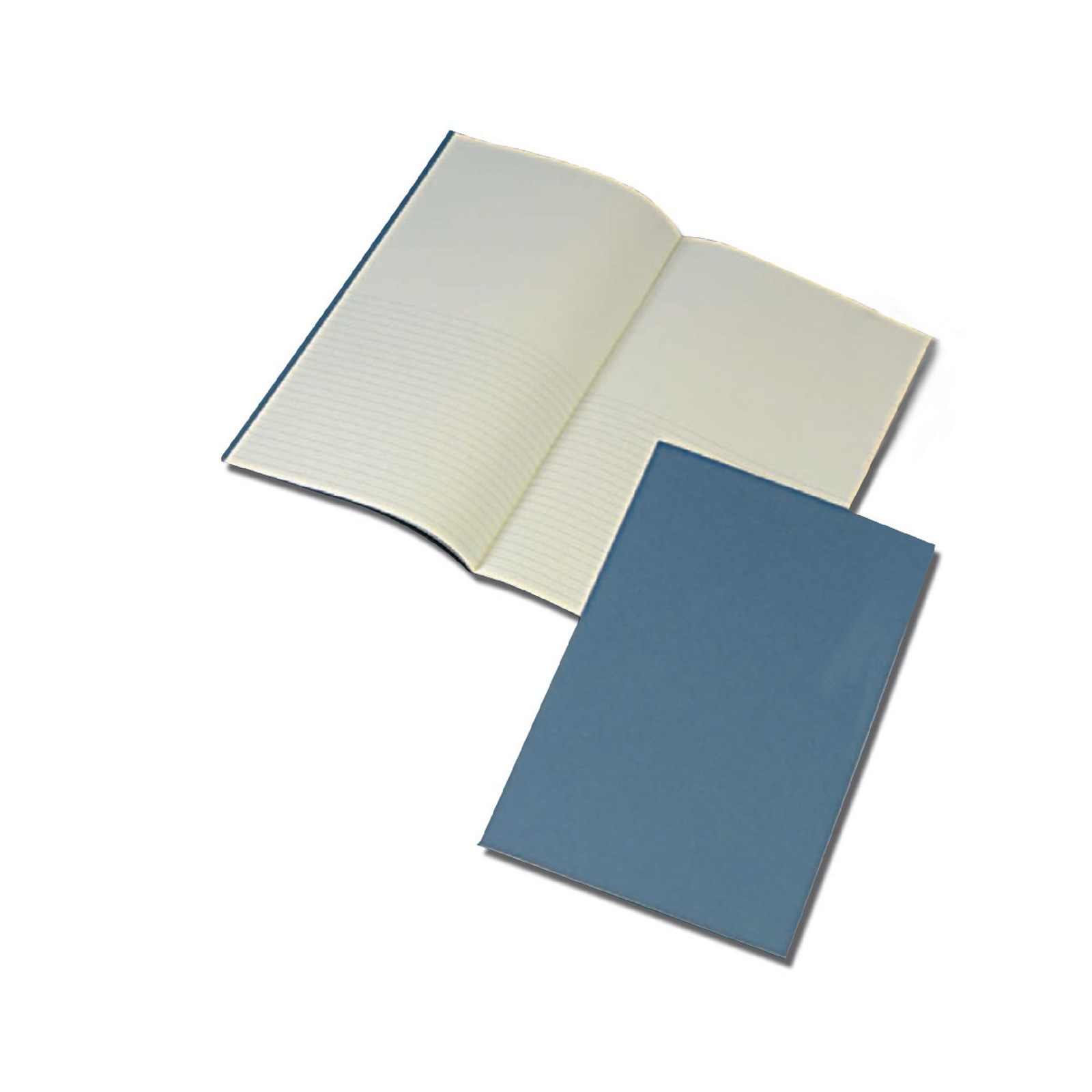 Blue 365 x 204mm Project Book 24-Page, 8mm Ruled / Plain Split - Pack of 12