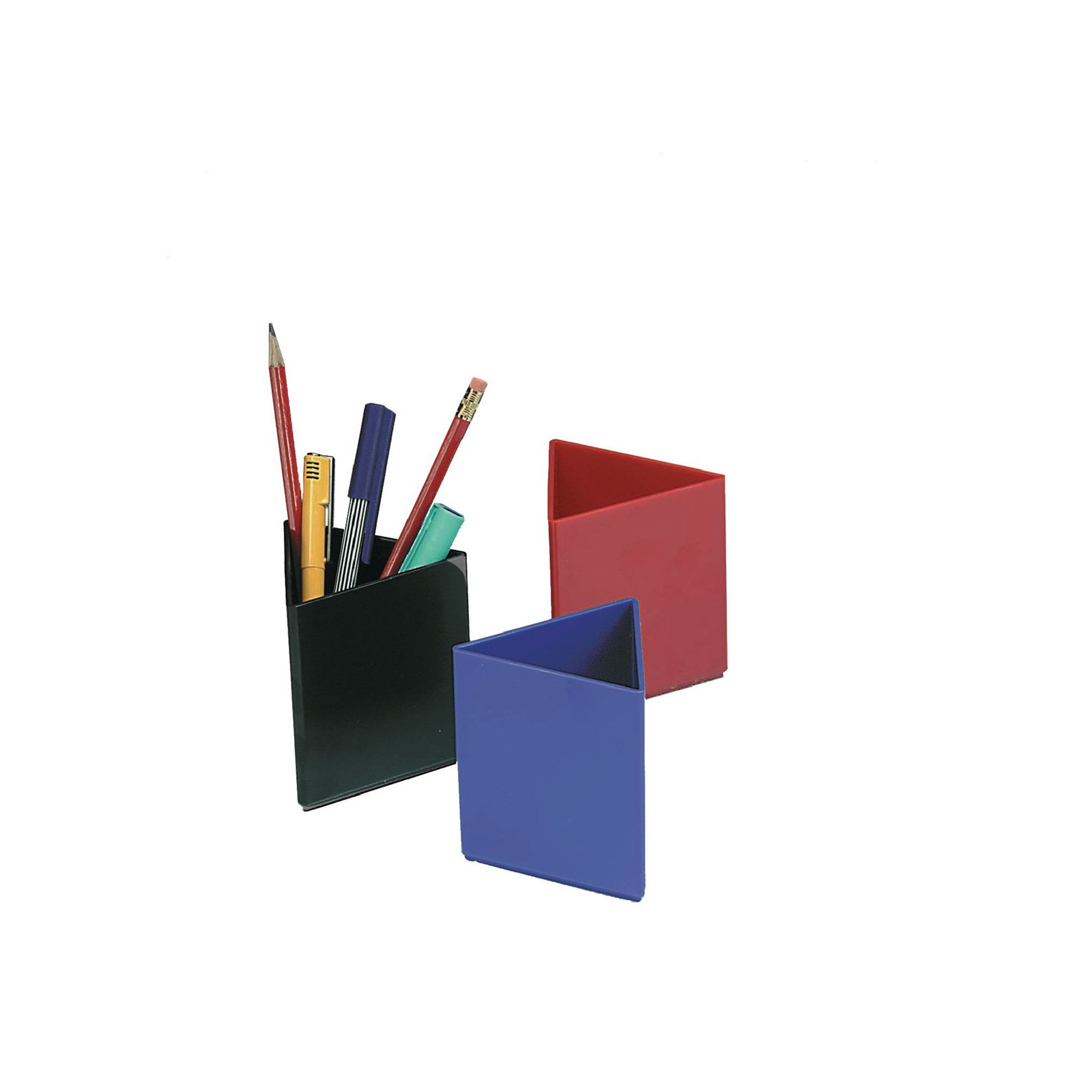 Triangular Pen Pots - Blue