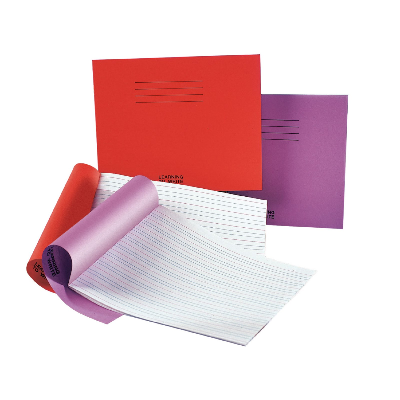 """Purple 6x8"""" Handwriting Book 32-Page, 4mm Ruled - Pack of 100"""
