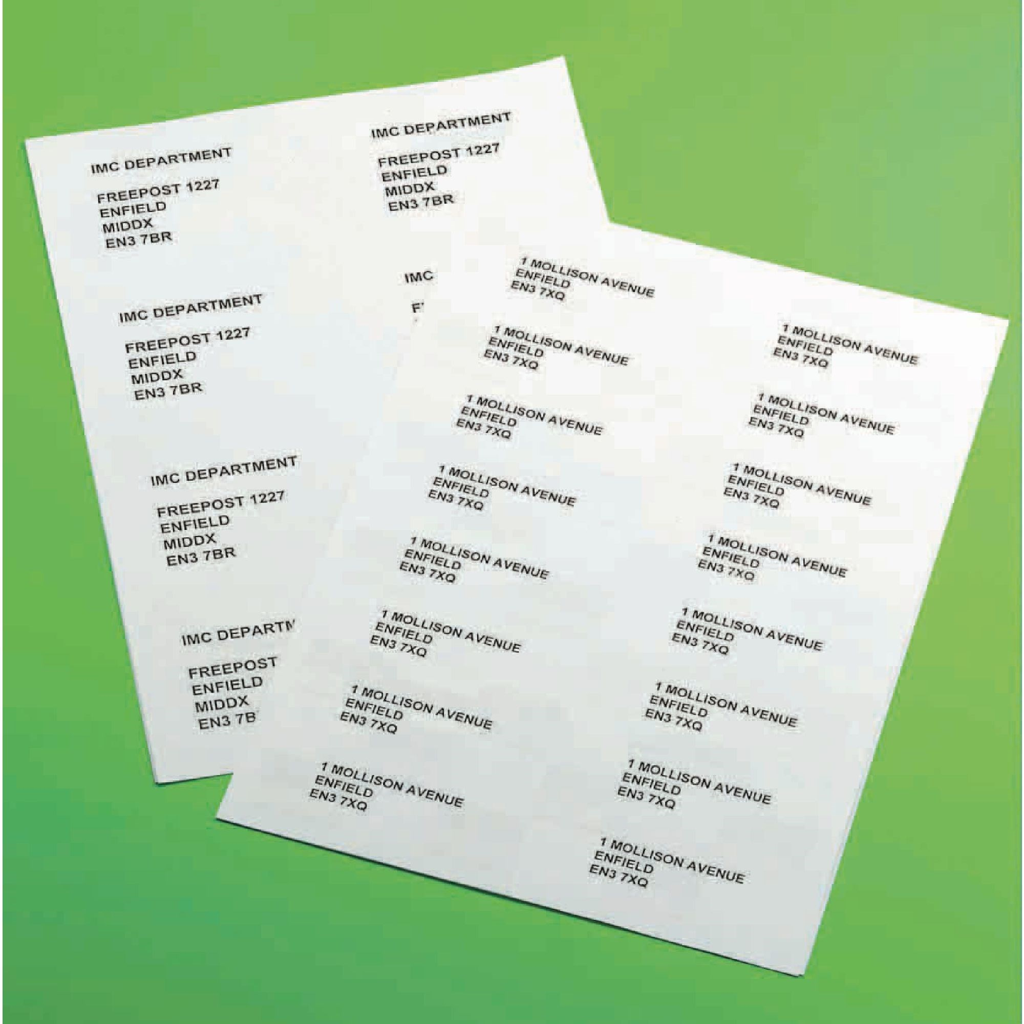 Classmates Multipurpose Labels 63.5x38.5mm 21 Per Sheet White (Pack of 2100) (Box of 100)