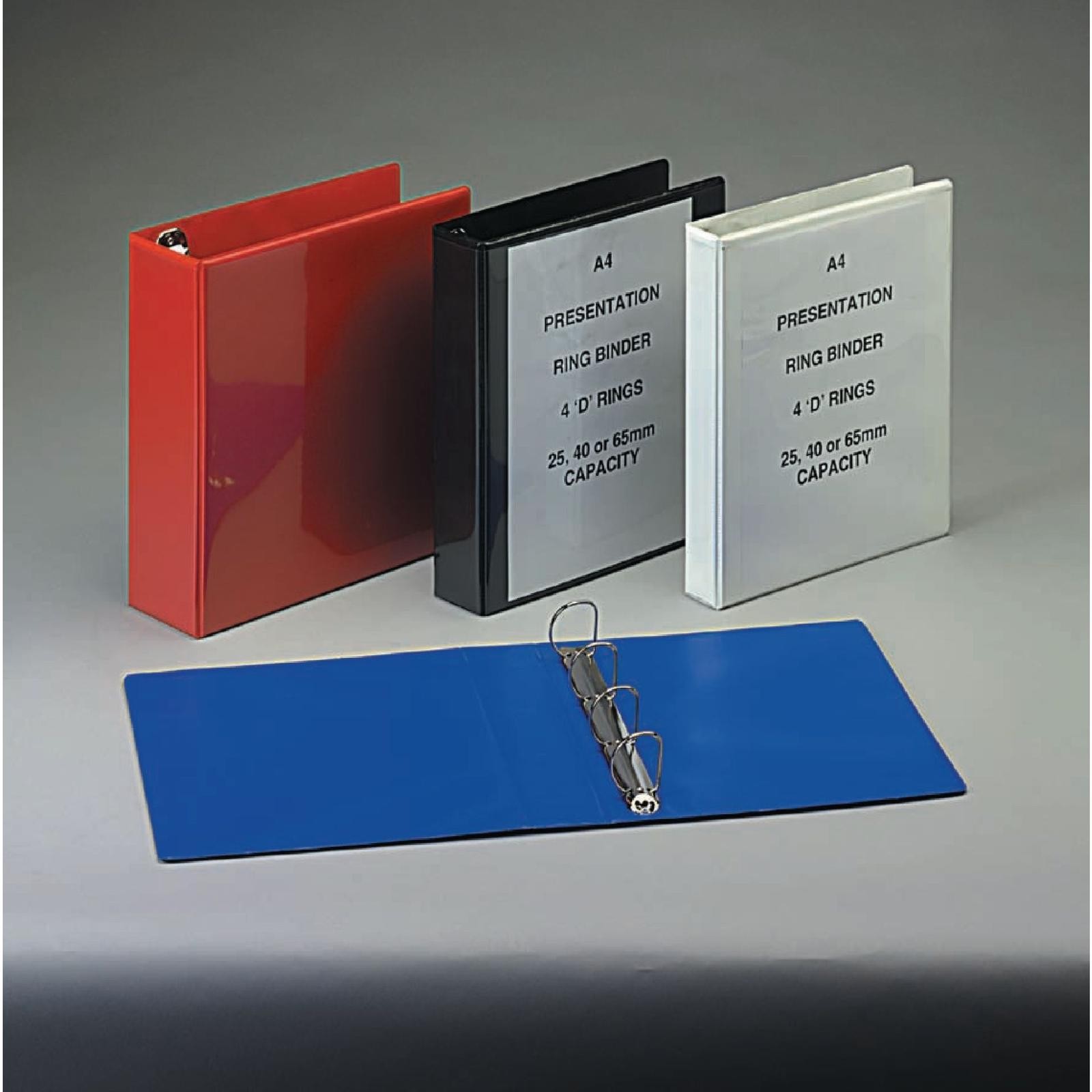 A4 Presentation Ring Binder Black - Pack of 10