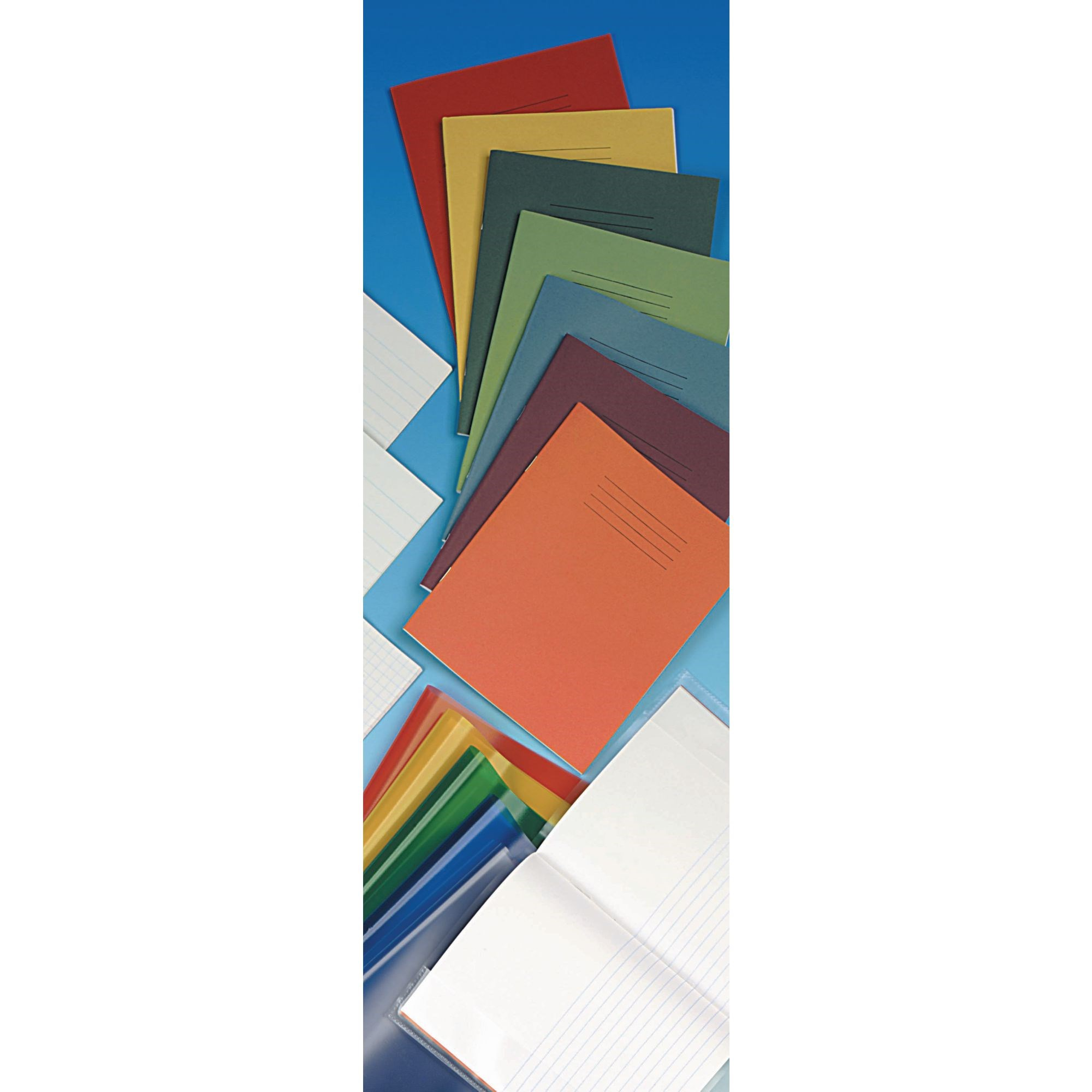 """Classmates Light Blue 8x6.5"""" Exercise Book 80 Pages 8mm Ruled/Plain Alternative (Pack of 100)"""