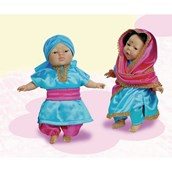 Children of the World Soft-bodied Dolls: Makali and Kanwar