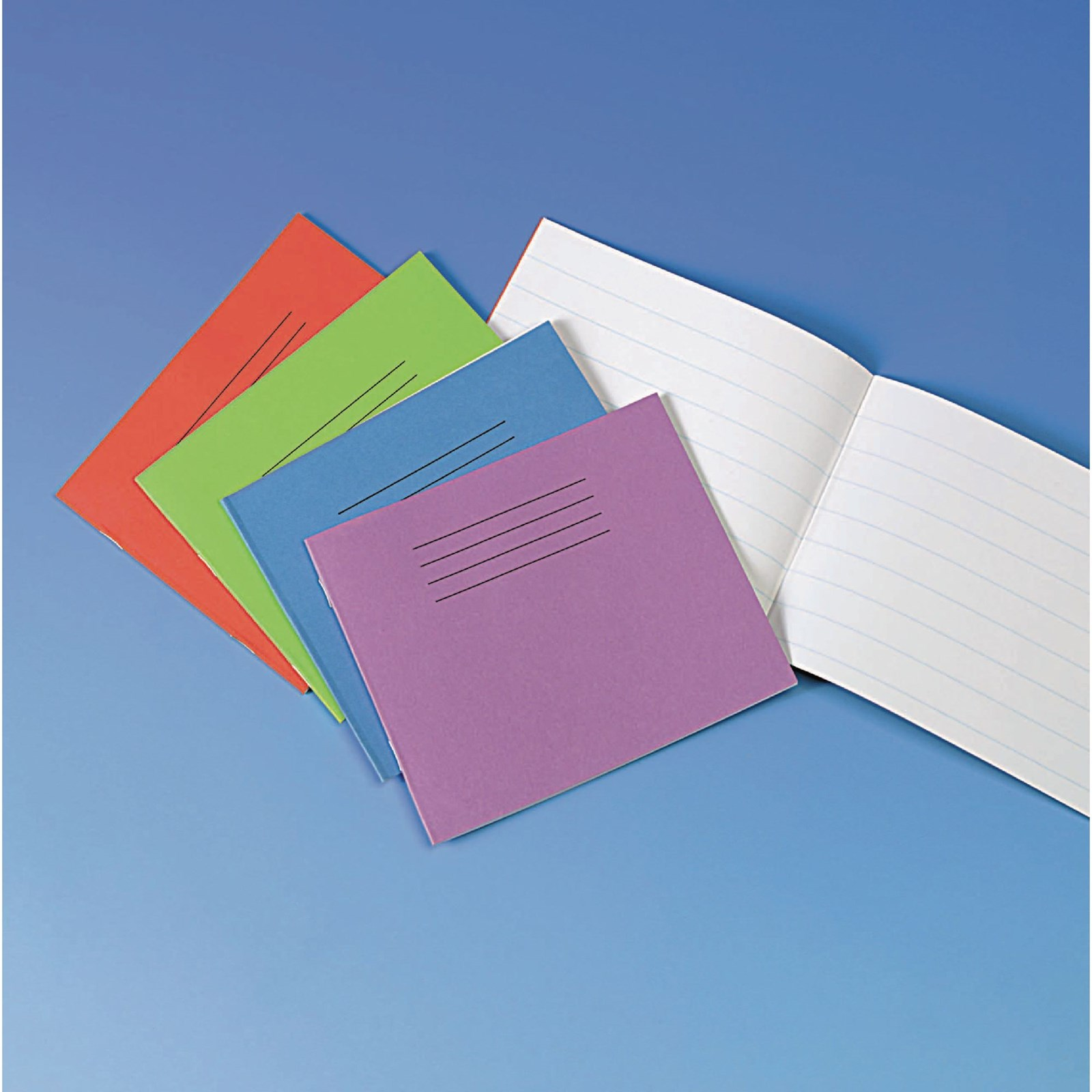 """Yellow 5.25x6.5"""" Exercise Book 32-Page, Plain - Pack of 100"""
