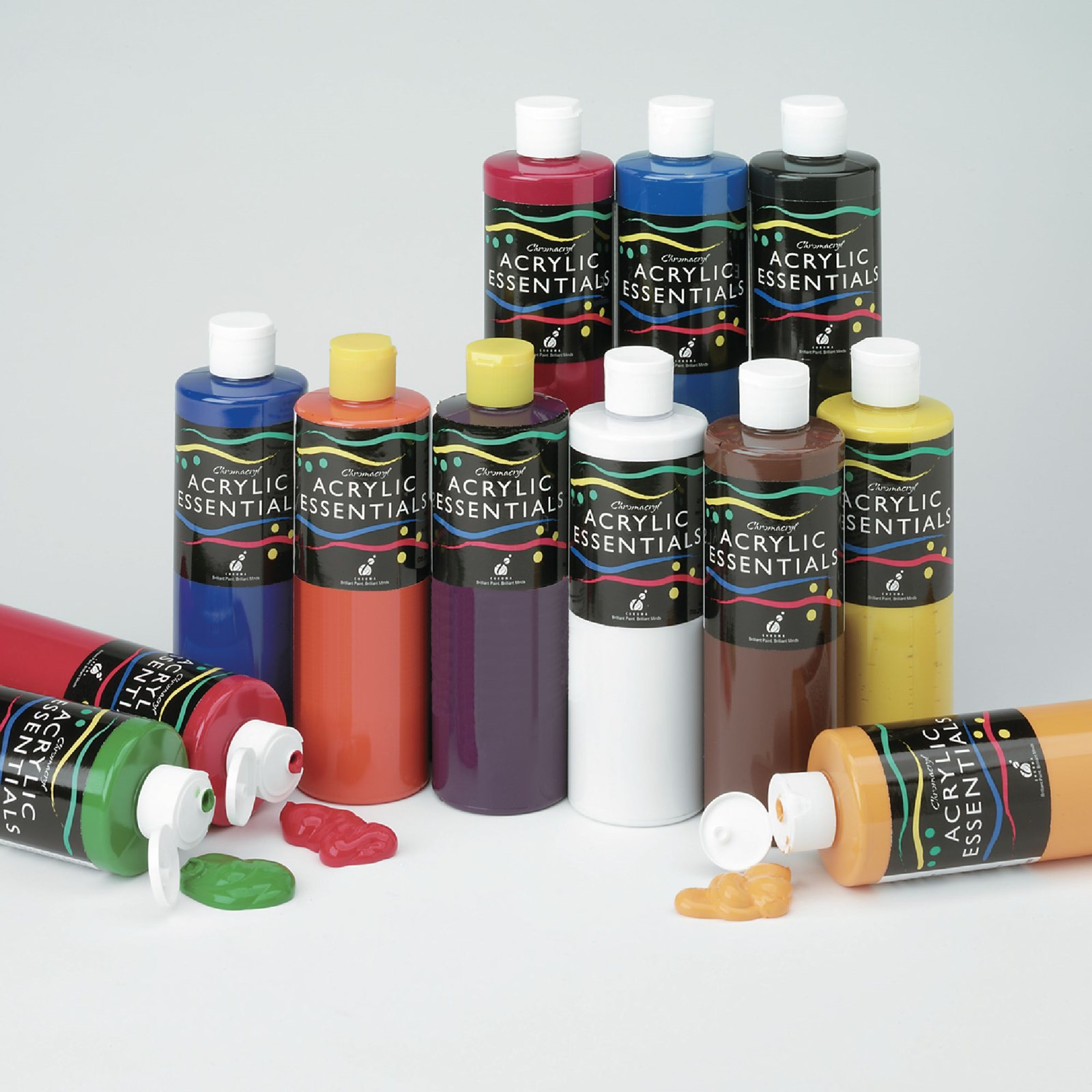 Chromacryl acrylic essentials acrylic paint in assorted for Craft essentials acrylic paint