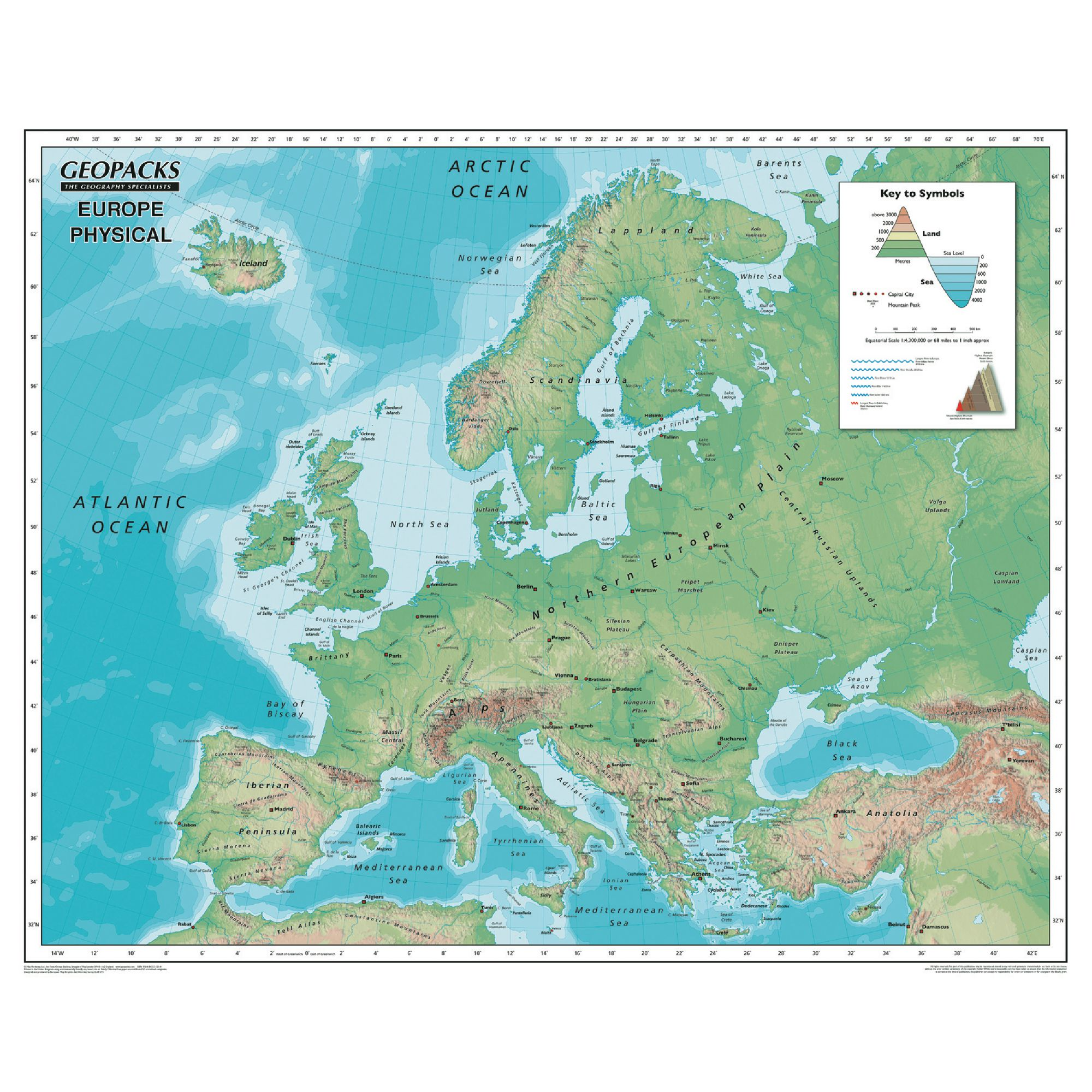 Picture of: Reversible Map Of Europe Hc336069 Findel International