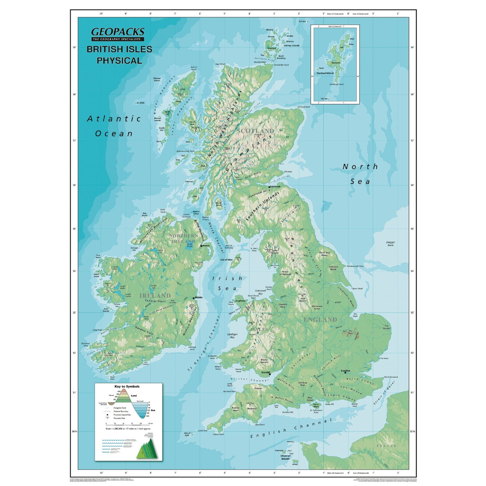 Reversible Map of the British Isles | Hope Education