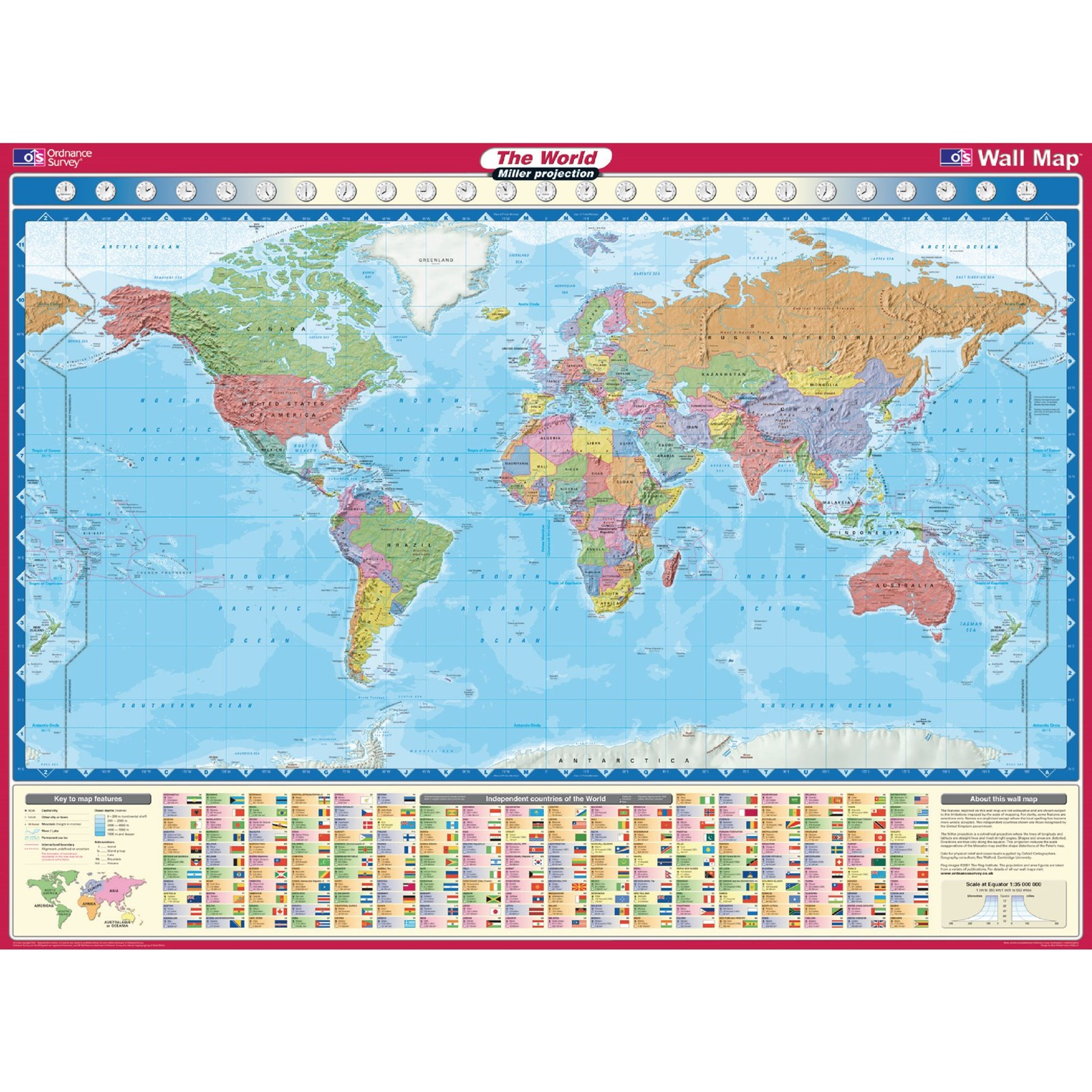 Product findel international miller projection world map gumiabroncs Choice Image
