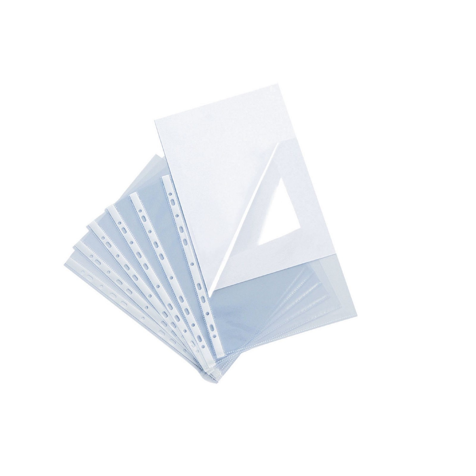 Side and Top Opening Punched Pocket A4 Clear - Pack of 100