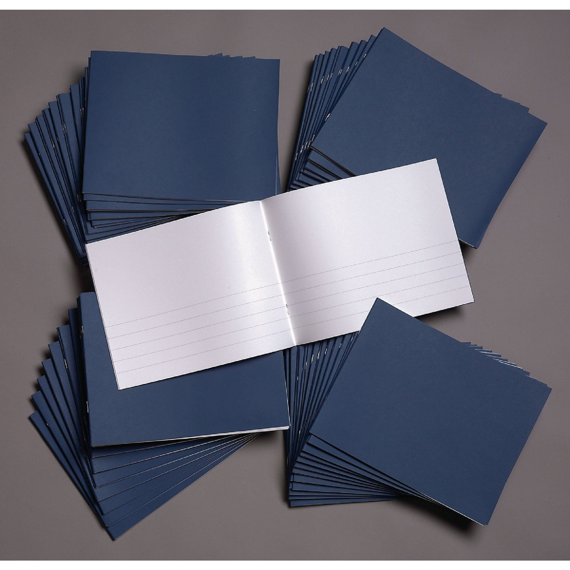 Classmates Dark Blue 190 x 254mm Project Book 32 Pages 15mm Ruled/Plain Split (Pack of 100)