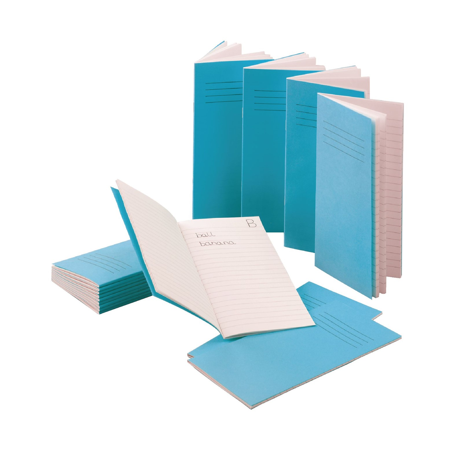 Classmates Light Blue 200 x 120mm Notebook 80-Page, 6mm Ruled - Pack of 100