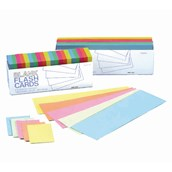 Coloured Blank Flash Cards - 1000 small cards