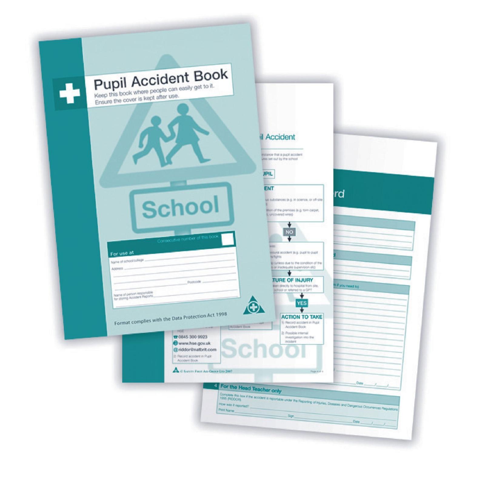 A4 Pupil Accident Book - Pupil
