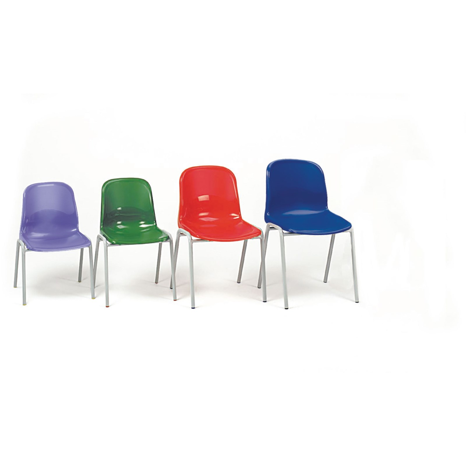 Harmony Stackable Classroom Chair - Seat height: 430mm - Red