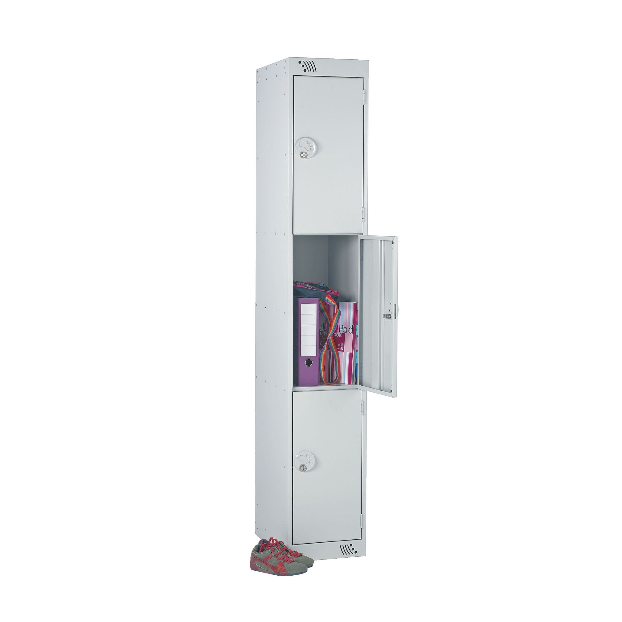Three door with deadlock - Nest of 1 - Fawn