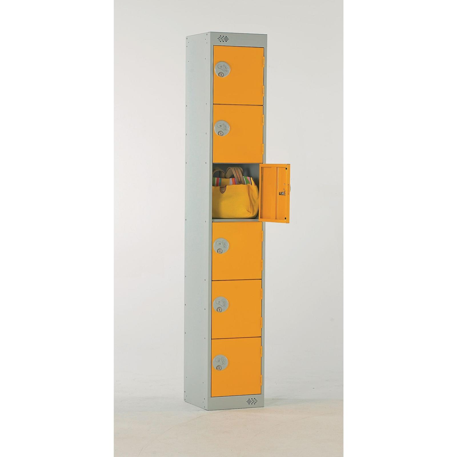 Six Door Locker - Nest of 3 - Blue - Pistol Grip