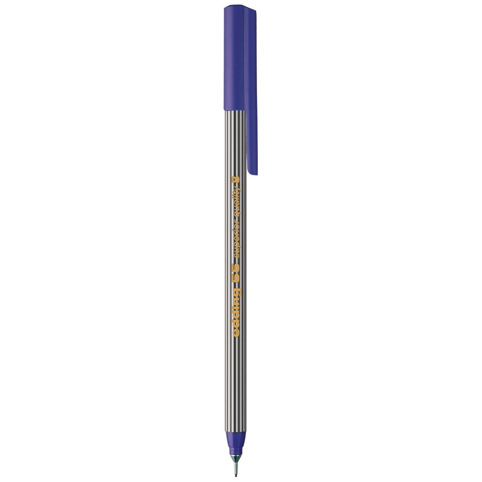 Edding 55 Fineline Fineliner Pen Black - Pack of 10