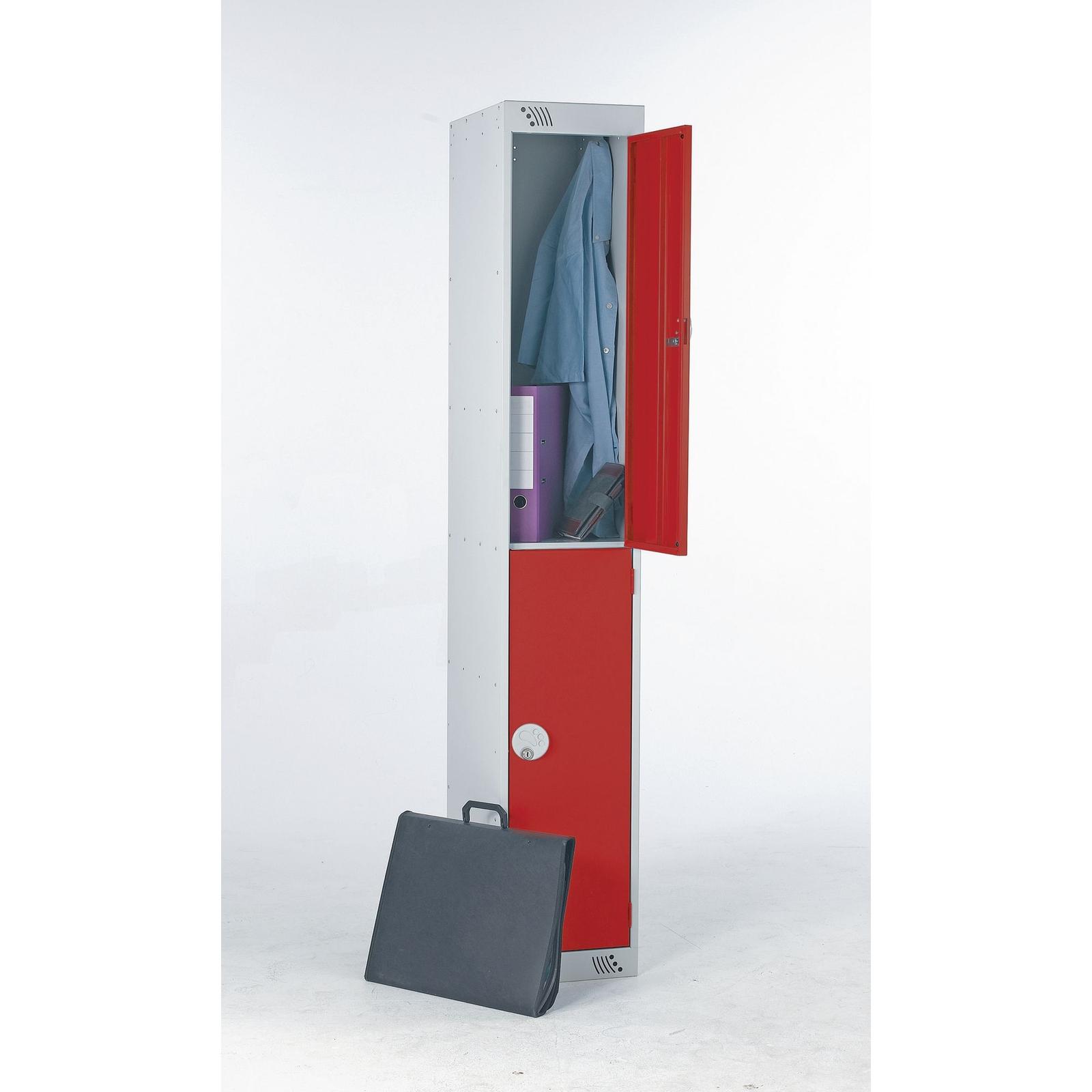 Two door with deadlock - Nest of 2 - Red