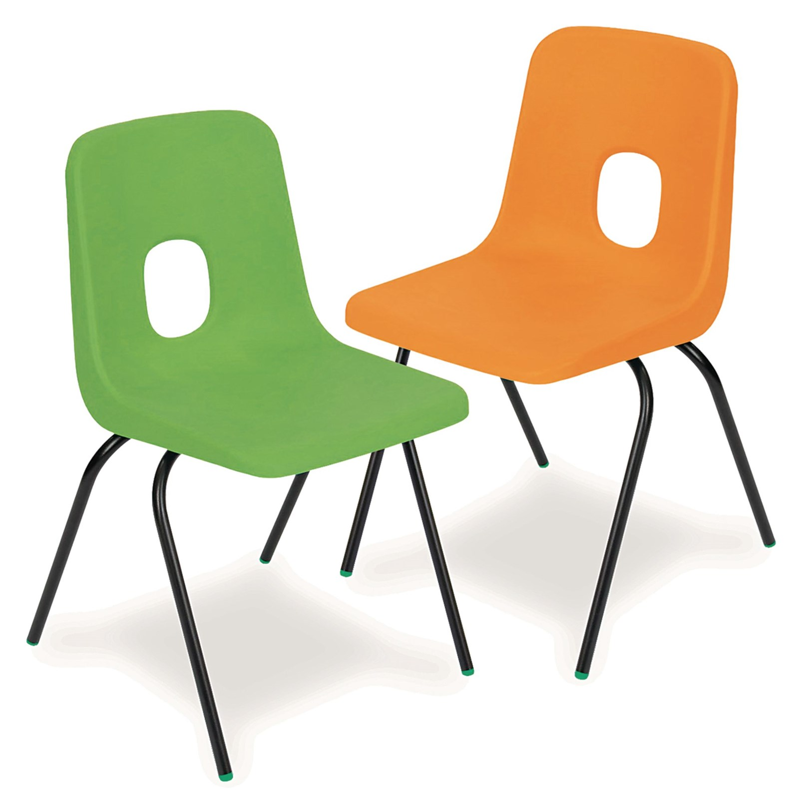 Series E Polypropylene Classroom Chair Orange 390mm