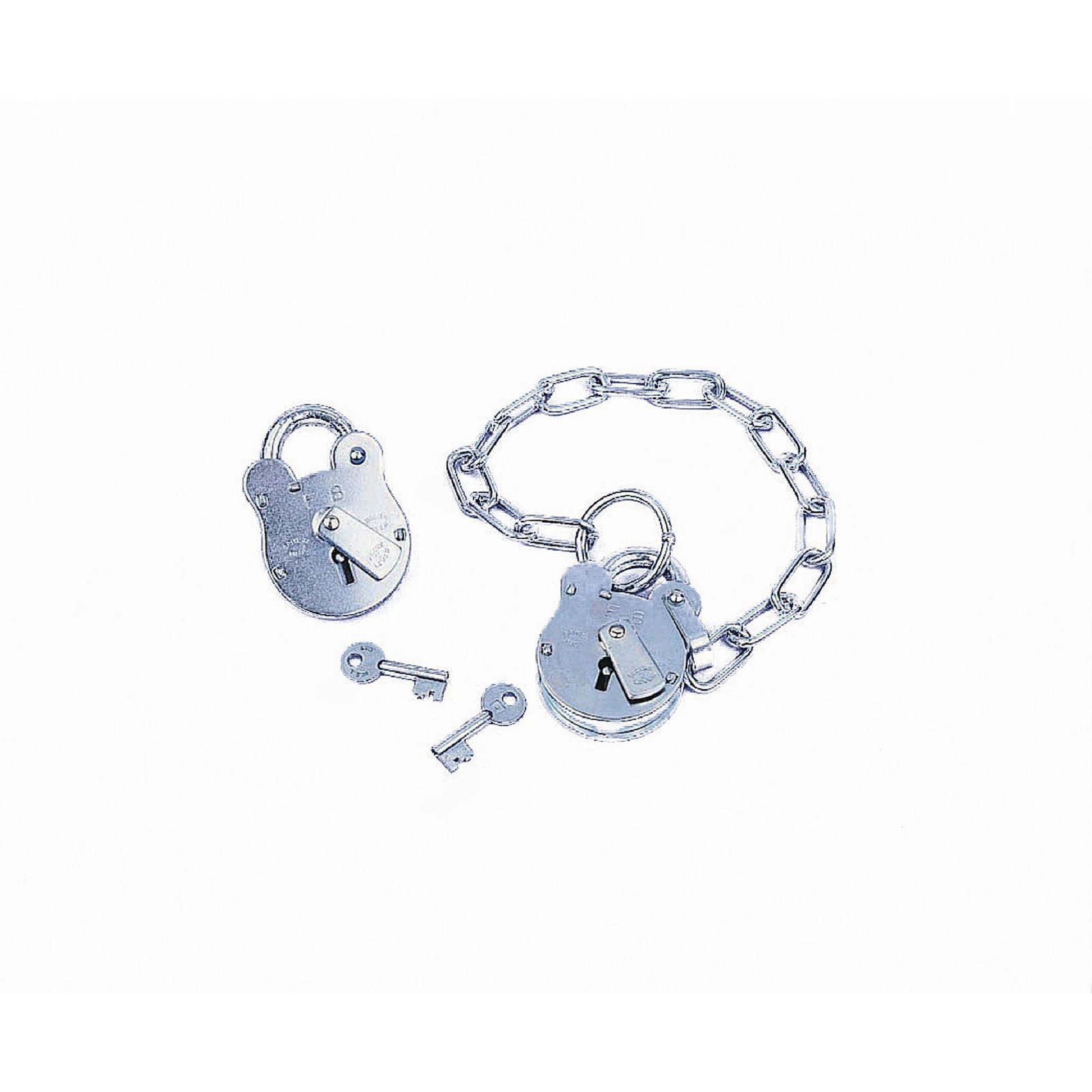 FB 51mm (2in) Padlock with Chain and Key - Padlock and chain only