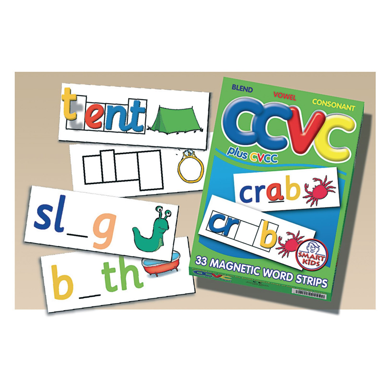 CCVC Word Strips Pack of 33