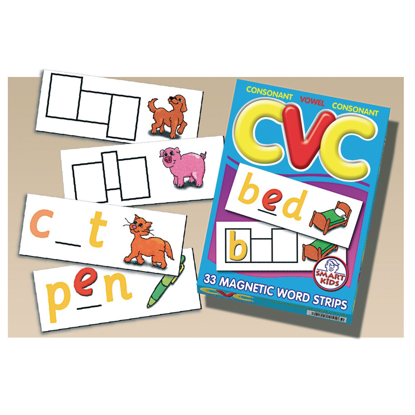 CVC Word Strips Pack of 33