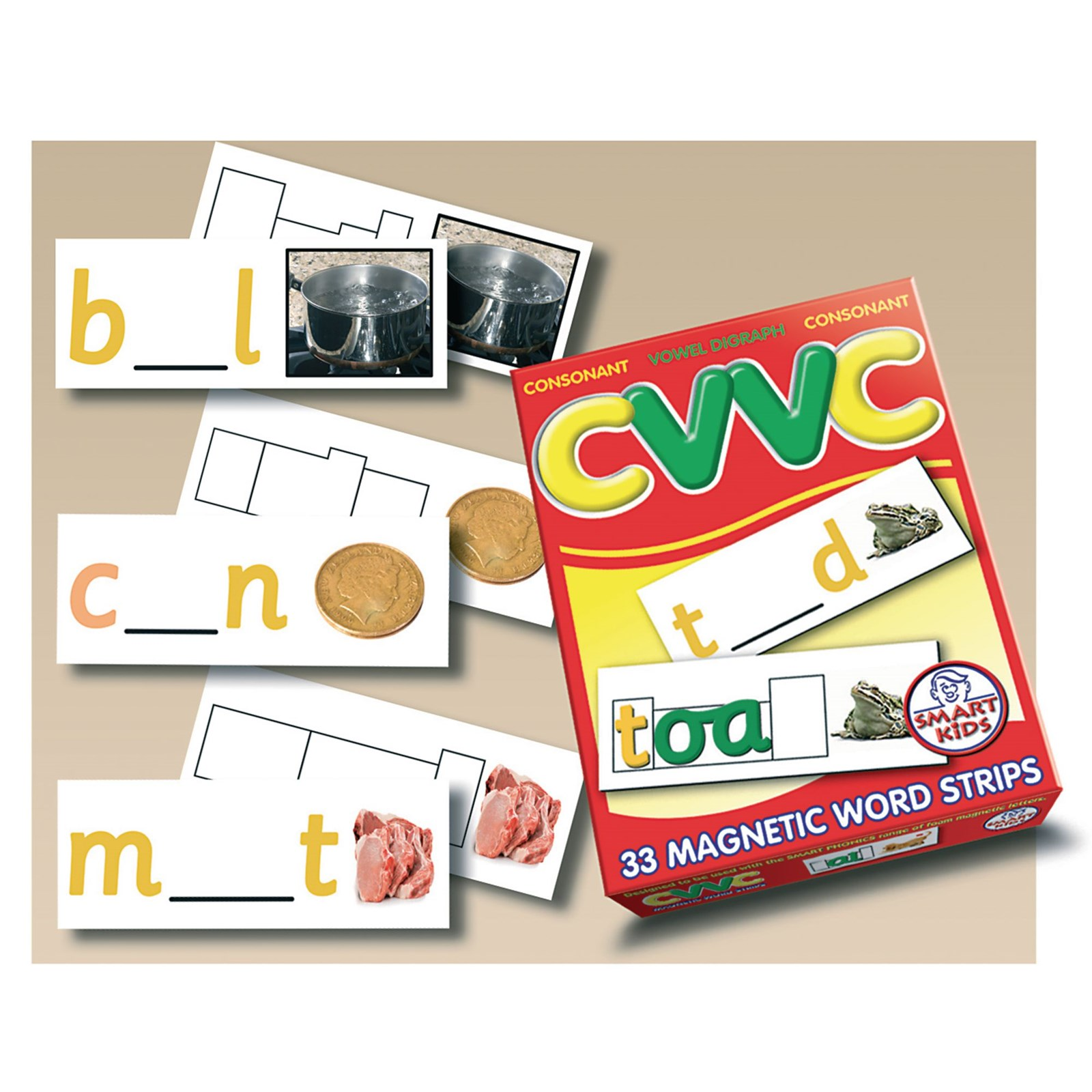 CVVC Word Strips Pack of 33