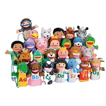 Alphabet Puppet Pack - Pack of 26 - HE129304 | Hope Education
