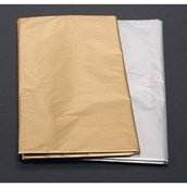 Gold and Silver Tissue Sheets