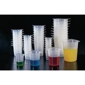 Tri-Pour Beakers - 250mL Capacity x 10mL Graduated - pack of 100