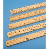 Horizontal Reading Metre Rule, Both Edges Divided - Pack of 10