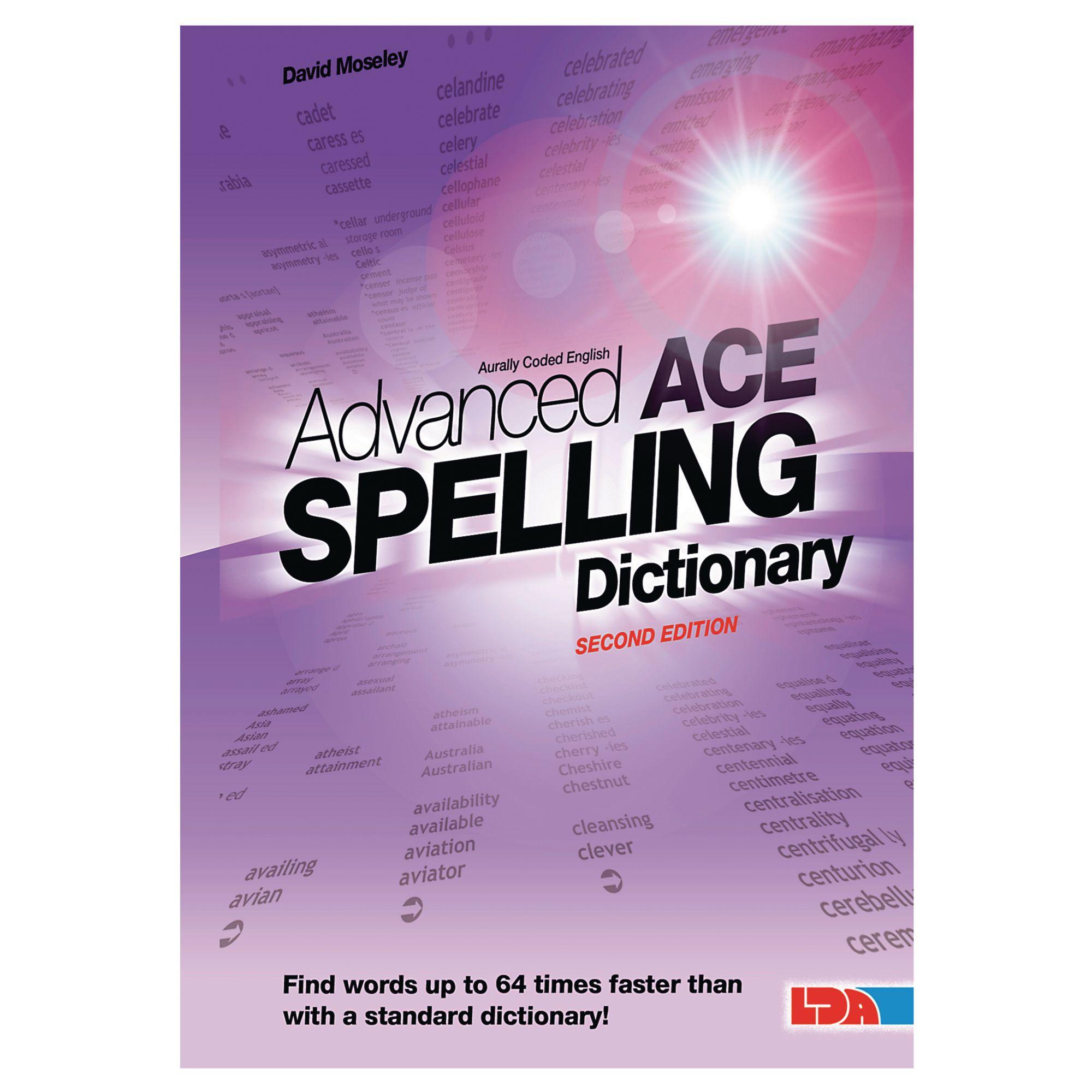 advanced ace spelling pocket dictionary lda resources. Black Bedroom Furniture Sets. Home Design Ideas