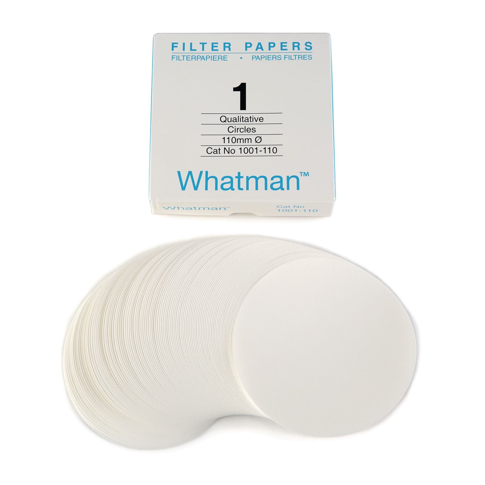 No.1 Grade Filter Papers 125mm - Pack of 100