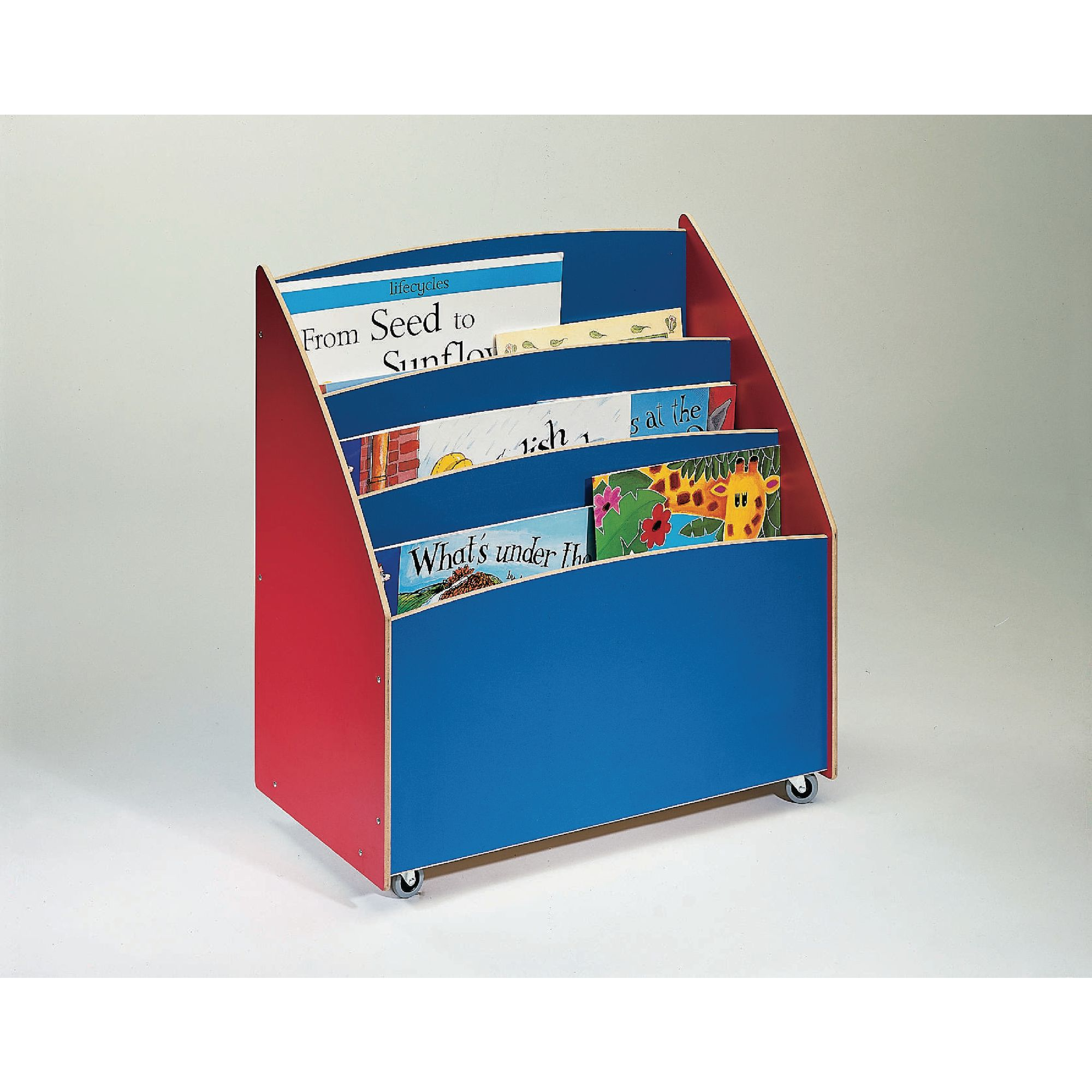Big Book Storage Unit   Double   Red/Blue