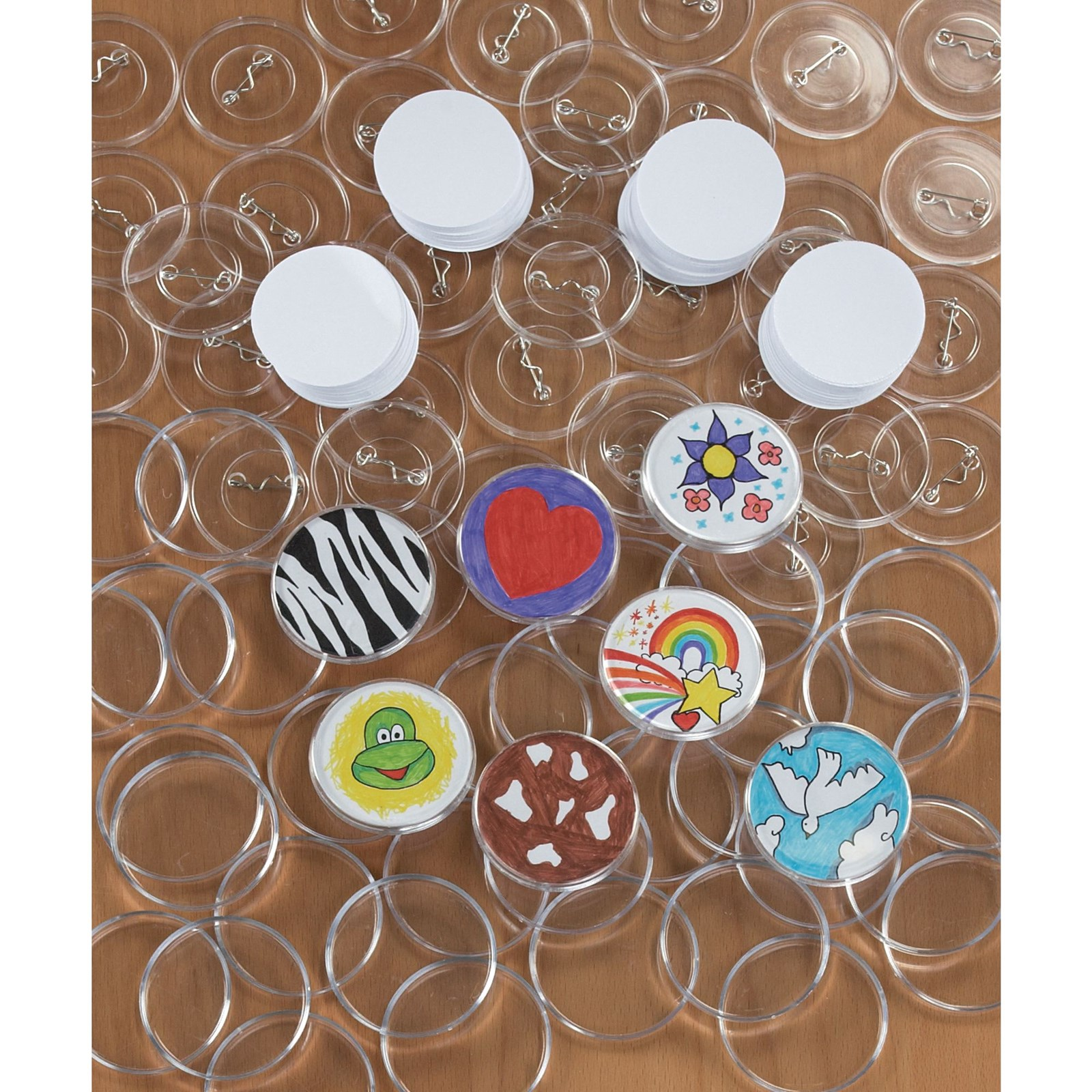 Self Assembly Badges Pack of 100