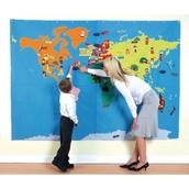 Cloth Wall Map - World - 1700 x 2400mm