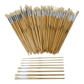 Classmates Long Round Paint Brushes - Assorted Sizes - Pack of 200
